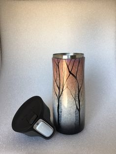 A personal favorite from my Etsy shop https://www.etsy.com/listing/486216886/snowy-woods-to-go-cup