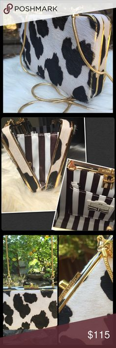 Spotted while shopping on Poshmark: Henri Bendel Haircalf party box! #poshmark #fashion #shopping #style #henri bendel #Handbags