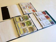 Seed Binders: Easy Seed Organization and Storage
