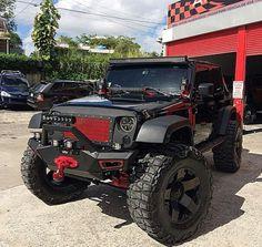 Highly modded Jeep Wrangler