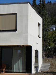 / the last 10 millimeters Stucco Exterior, Exterior Design, Interior And Exterior, Concrete Facade, Brick Facade, Facade Architecture, School Architecture, Townsend Homes, Social Housing