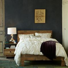 Emmerson Bed #WestElm. Like the look of this bed. Does anyone know about sturdiness of West Elm furniture?? I've heard mixed reviews...