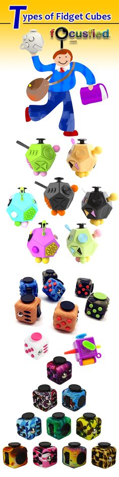 Check out the updated list of types and Styles on Fidget cubes, spheres and dices.