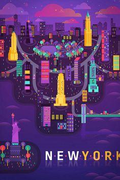City Illustration: New York by Aldo Crusher