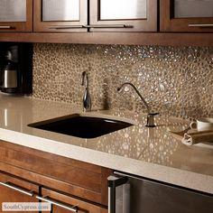 Quartz Kitchen Countertops, Recycled Glass Countertops, Dark Kitchen  Cabinets, Kitchen Cabinet Hardware, Maple Cabinets, Modern Cabinets, Marble  Counters, ...  Quartz Kitchen Countertops