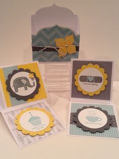 Happy Hello mini card set