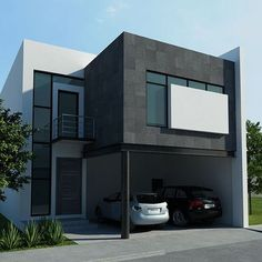 Modern House Design 787989266039449249 - Source by rosaadrianabenitez 2 Storey House Design, Bungalow House Design, House Front Design, Small House Design, Modern House Design, Modern House Facades, Modern House Plans, Small House Plans, Home Building Design