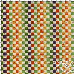 Tecido Estampado para Patchwork - Pastilhas (0,50x1,40) no Bazar Horizonte