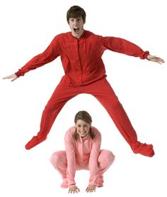 Big Feet Pajamas Adult Red Jersey Knit One Piece Footy $44 - SHOP https://www.thepajamacompany.com/big-feet-pajamas-adult-red-jersey-knit-one-piece-footy.html?category_id=336