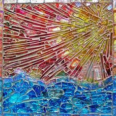 The Space Between Thoughts, mosaic by Susan Crocenzi