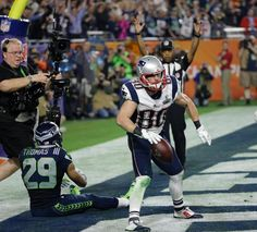 Danny Amendola.  Patriots vs. Seahawks: Super Bowl XLIX The New England Patriots take on the Seattle Seahawks in Super Bowl XLIX at University of Phoenix Stadium on Sunday, February 1, 2015.