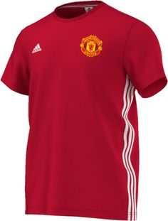 3b17a27f5 ADIDAS MEN S MANCHESTER UNITED 3 STRIPE TEE Manchester United Soccer