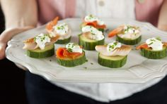 Whole Foods recipe: hors d'oeuvres made with salmon, trout, shrimp or crab.
