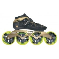 Powerslide Venom Black Speed Skate Package Supreme fit and comfort Pure poison for your rival Feel the power of this amazing racing machine BOOT Venom boot features a Carbon shell Hollow Tube Technology SHMR Technology Fully heat mouldable Nano Leathe Inline Speed Skates, Amazing Race, Venom, Skating, Black Gold, Hiking Boots, Pure Products, Awesome Stuff, Sports