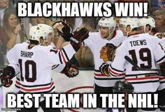 Hawks Win 6-3 vs Jets... Best team in the NHL!!! Go Hawks Go!!!