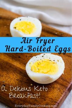 Fryer Breakfast Recipes The best air fryer breakfast keto hard boiled eggs recipe. Enjoy this low carb snack idea that's gluten-free, paleo, and vegetarian. It's healthy and so delicious. Includes tips on how to peel a hard boiled egg easily. Air Fryer Oven Recipes, Air Frier Recipes, Air Fryer Dinner Recipes, Keto Egg Recipe, Keto Recipes, Healthy Recipes, Tuna Recipes, Croissant, Hard Boiled Egg Recipes