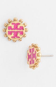 Tory Burch 'Winslow' Logo Stud Earrings | Nordstrom