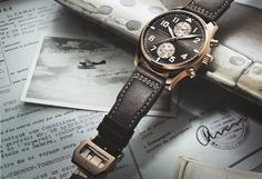 watchanish:    The new St Exupery Pilot Chronograph in rose gold - International Watch Company  Limited to 500 pieces