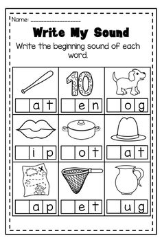 Huge phonics printable worksheet bundle. Includes 50 NO PREP printables for beginning, middle and ending sounds.