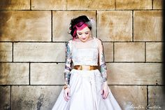 love the look of this bride!