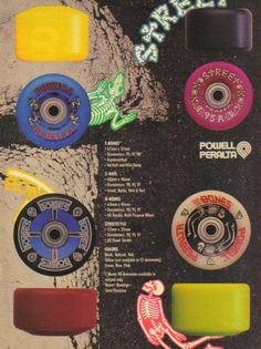 Powell Peralta Skateboard Wheels NOS Old School Mini Rat 2 Blue 57mm 95A Vintage