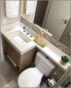 Último banheiro do ano com esse projeto moderno e elegante! Washroom Design, Bathroom Interior Design, Small Bathroom Layout, Modern Bathroom, Very Small Bathroom, Rustic Farmhouse Decor, Small Apartments, Amazing Bathrooms, House Design