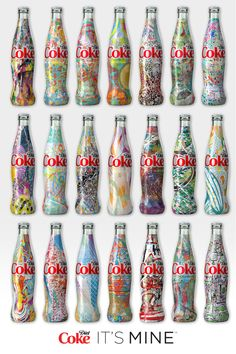 Elevate your look with millions of unique reasons to tell the world, IT'S MINE with Diet Coke. Coca Cola Bottles, Coke Cans, Diet Coke, Vintage Design, Copics, Pepsi, Arts And Crafts, Artsy, At Least