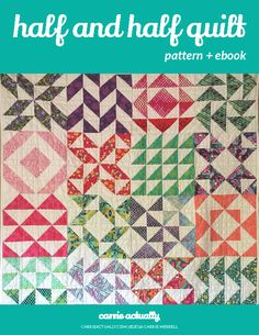 130 quilt blocks that all use exactly the same amounts of fabric so it's  easy to mix and match.  The pattern includes material requirements and instructions to make half  square triangle quilts from craft size to king size and is fat quarter, fat  eighth, yardage, jelly roll, charm square, and layer cake friendly.