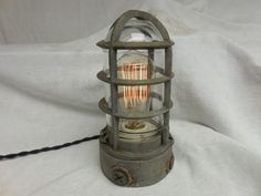 VINTAGE INDUSTRIAL  Explosion Proof TABLE LIGHT ADALET TOUCH Feature STEAMPUNK