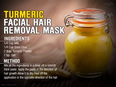 Turmeric-facial-hair-removal-mask