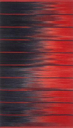 """Lunar Ectasy""  wool ikat rug http://www.marigoldarts.com/forneris.html"