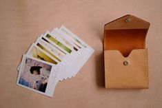 Polaroid leather case.