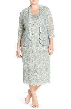 R&M Richards Long Lace Jacket Dress found at Lace Jacket, Jacket Dress, Cocktail Dresses With Jackets, Lace Evening Dresses, Formal Dresses, Mode Chic, Mom Dress, Plus Size Dresses, Plus Size Fashion