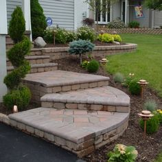 Front Steps & Landscape Design - Yelp Front Porch Steps, Front Stairs, Front Porches, Verge, Outdoor Steps, Exterior Stairs, Landscape Architecture Design, Deck With Pergola, Front Entrances