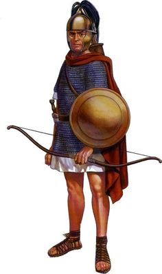 The Cretean mercenary archer of the auxiliary parts of the Roman army, 1st century BC.