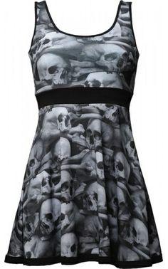 ☆ A Lovely Skull Pile Penny Dress :¦: Shop: The Black Angel ☆
