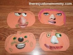Cut-out faces kids Halloween craft