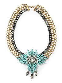 Sabine Turquoise Statement Necklace