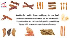 Looking for healthy chews and treats for your dog? 100% natural chews and treast your dog will thank you for. 1 Ingredient low fat- high protein treat with zero additives. Natural Dog Treats, Draco, Treat Yourself, Pet Products, High Protein, Really Funny, Hamilton, Zero, Fat