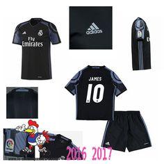 Promo Maillot Du Real Madrid Noir Enfant (JAMES 10) Third 2016/2017 Thailande
