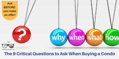 There are specific questions you need to ask when buying condo. Ask about special assessments, rentals caps, HOA dues and Buying A Condo, Home Buying Tips, Home Selling Tips, Real Estate Information, Real Estate Tips, Questions To Ask, This Or That Questions, Real Estate Investing, Real Estate Marketing
