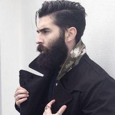 Loving this style & Full Beard. Having trouble with your hair? Let ManeLine's NATURAL Shampoo Alternative help! link in bio. .. .. #hair #hairstyle #instahair #hairstyles #hairdo #haircut #fashion #instafashion  #style #hairoftheday #hairideas #hairfashion #hairofinstagram #coolhair #beards #menshair #beardcare #grooming #veganfriendly #vegan #mensgrooming #dapper #beardsofinstagram #nopoo