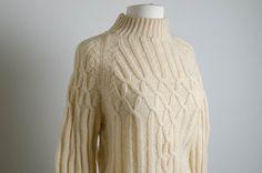 cream cableknit ski sweater