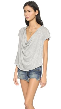 Free People Fantasy Cowl Tee
