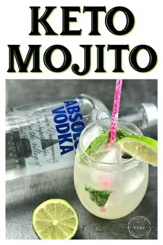 This Keto Mojito is light and refreshing and under 4 carbs each! Perfect keto cocktail for all of your summer festivities! This Keto Mojito is light and refreshing and under 4 carbs each! Perfect keto cocktail for all of your summer festivities! Low Carb Drinks, Diet Drinks, Healthy Drinks, Nutrition Drinks, Beverages, Low Sugar Alcoholic Drinks, Ketosis Diet, Ketogenic Diet, Ketogenic Recipes