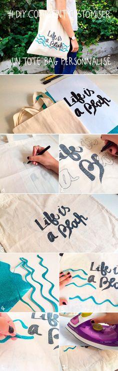 Tote Bag personnalisé : comment personnaliser un tote bag ? Notre DIY en images pour faire un tote bag personnalisé !...