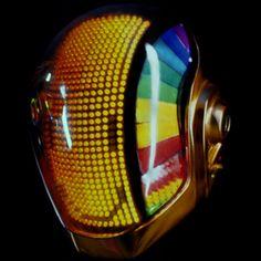 Daft Punk Helmet, would make a cool robot head. Daft Punk, Futuristic Helmet, Light Up Clothes, Rave Mask, Cool Robots, Cool Masks, Robot Design, Punk Art, Gorillaz