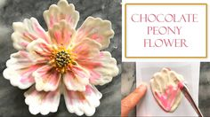 New cupcakes chocolate decorations candy melts ideas Candy Flowers, Icing Flowers, Buttercream Flowers, Fondant Flowers, Cake Decorating Videos, Cake Decorating Techniques, Cookie Decorating, Chocolate Flowers, Chocolate Art