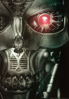 """""""Watchman"""" - Terminator art  adobe photoshop  ...a further developed prototype of the T-700 model...    updated version, slightly reworked in color, lights and contrast"""