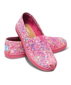 Look what I found on #zulily! Pink Splatter Canvas Classics - Youth by TOMS #zulilyfinds